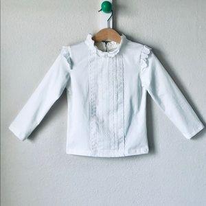 214ad2f79d15a5 Ruffle Kids blouse - organic cotton. Boutique